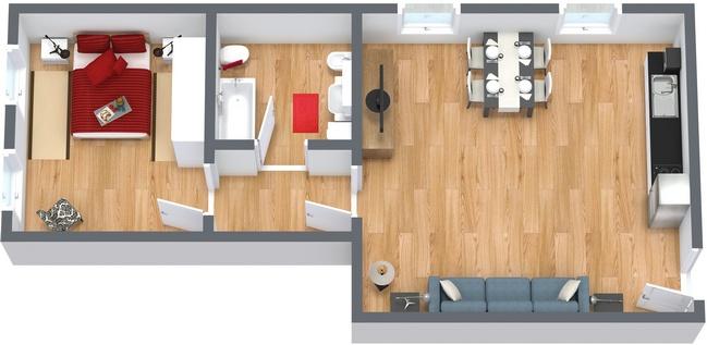 Planimétrie Appartement N.162