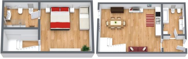 Planimétrie Appartement N.166