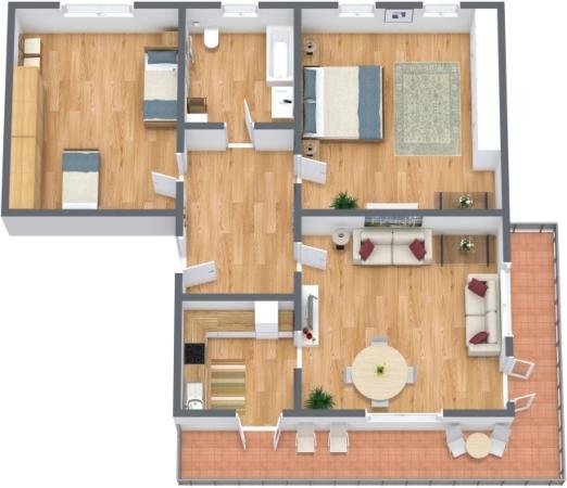 Planimétrie Appartement N.177