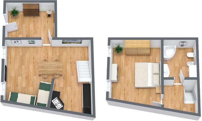 Planimétrie Appartement N.19