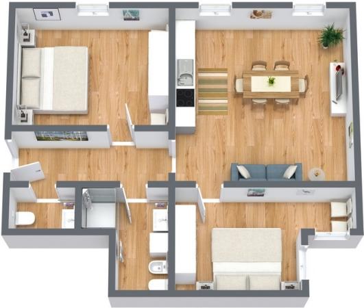 Planimétrie Appartement N.193