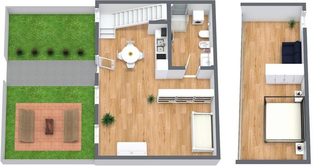 Planimétrie Appartement N.75