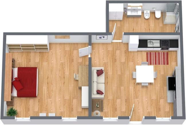 Planimétrie Appartement N.203