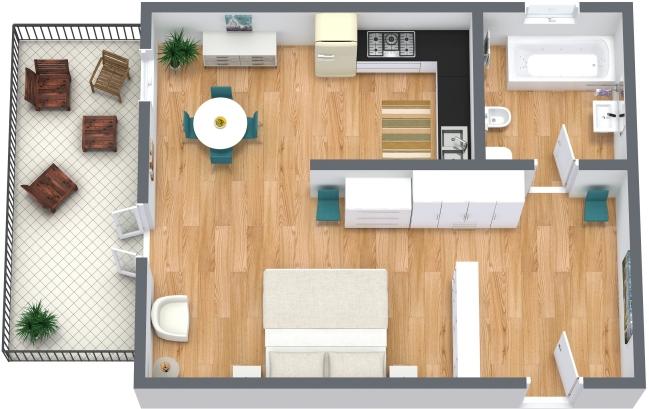 Planimétrie Appartement N.207