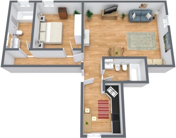 Planimétrie Appartement N.211