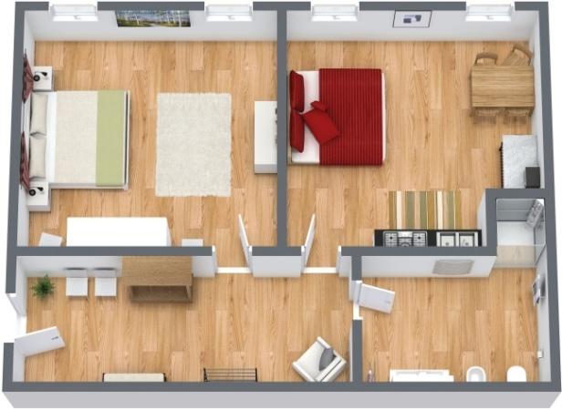 Planimétrie Appartement N.214