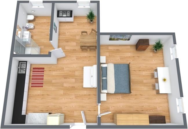Planimétrie Appartement N.216