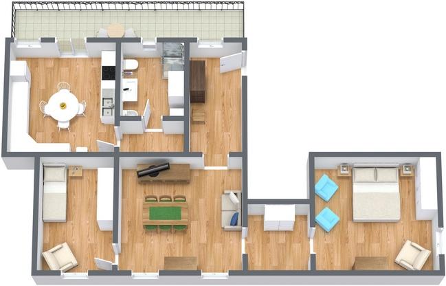 Planimétrie Appartement N.220