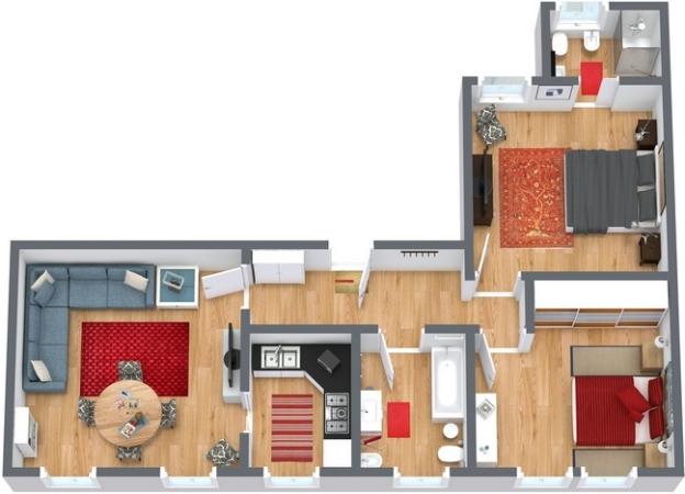 Planimétrie Appartement N.250