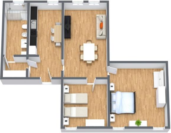Planimétrie Appartement N.266