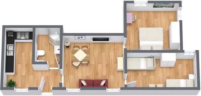 Planimétrie Appartement N.27