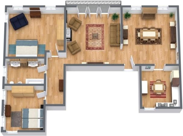 Planimétrie Appartement N.289