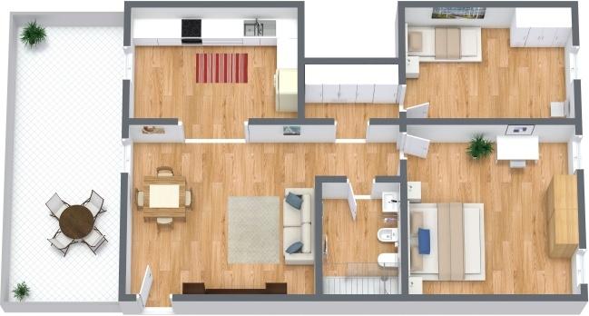 Planimétrie Appartement N.291