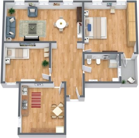 Planimétrie Appartement N.296