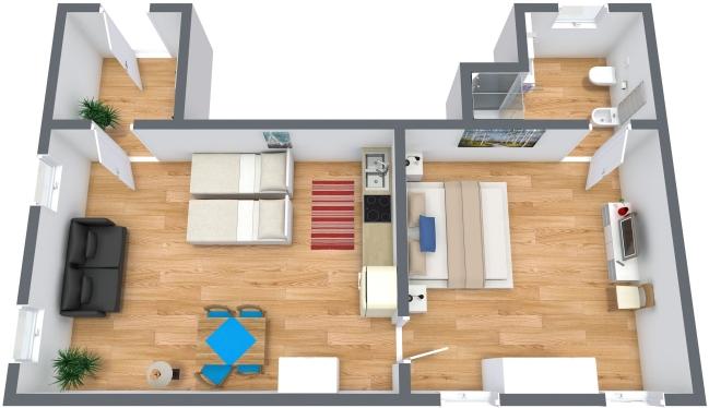 Planimétrie Appartement N.215