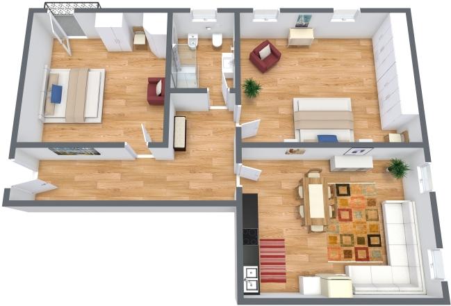 Planimétrie Appartement N.300