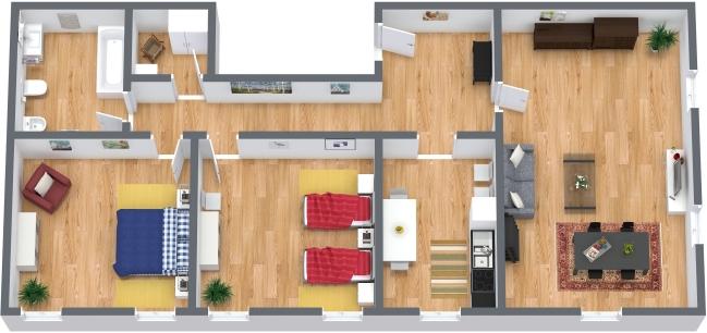 Planimétrie Appartement N.317