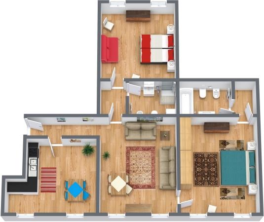 Planimétrie Appartement N.323