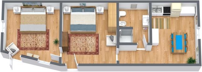 Planimétrie Appartement N.328