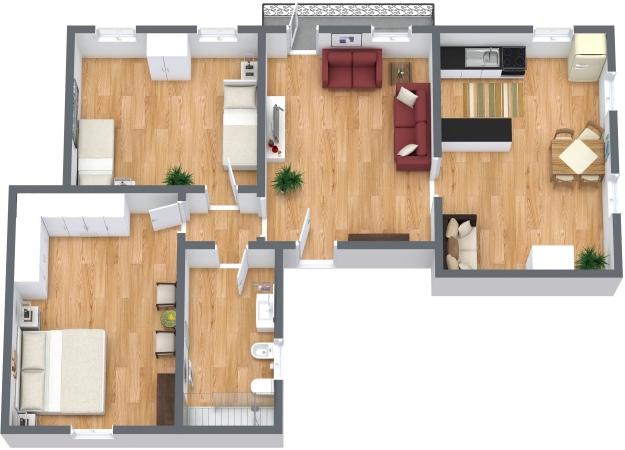 Planimétrie Appartement N.334