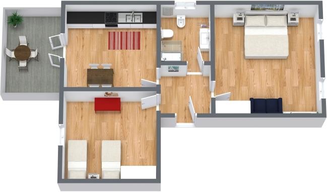 Planimétrie Appartement N.341