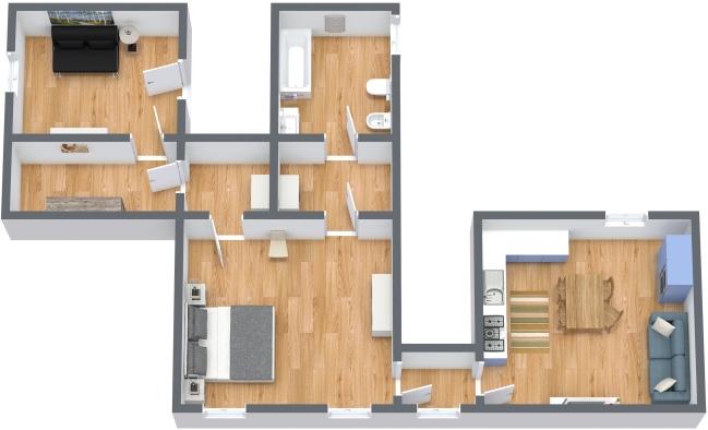 Planimétrie Appartement N.347