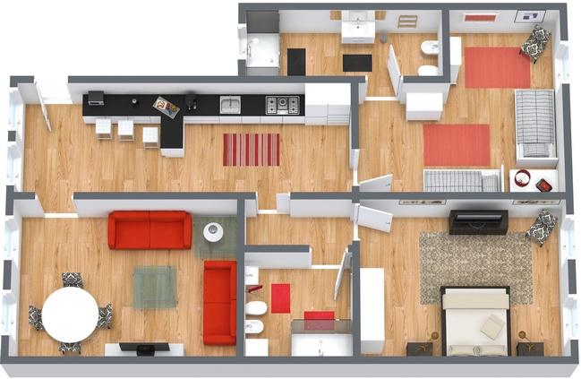 Planimétrie Appartement N.35