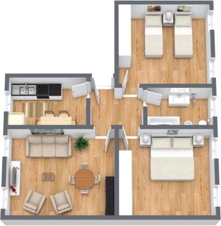 Planimétrie Appartement N.350