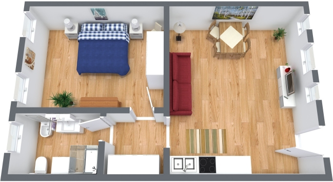 Planimétrie Appartement N.355