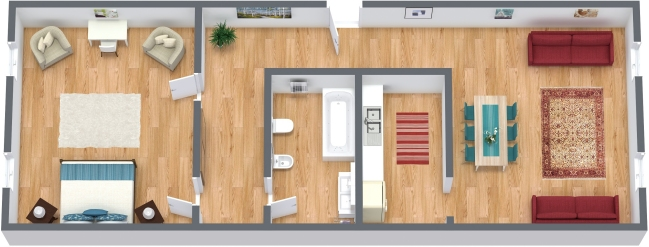 Planimétrie Appartement N.361