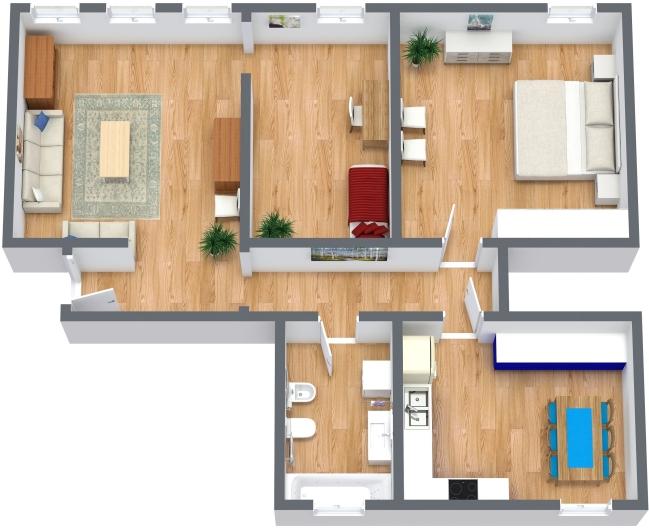 Planimétrie Appartement N.366