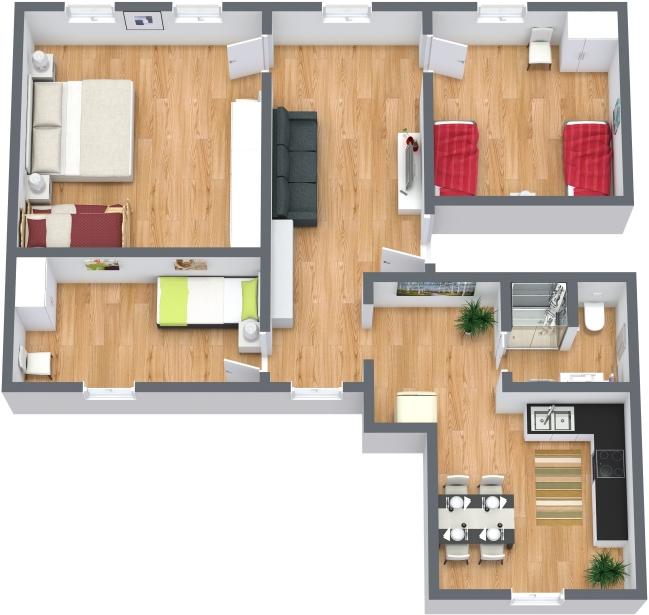 Planimétrie Appartement N.377