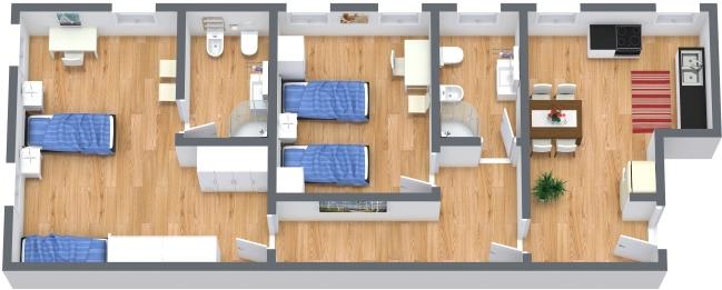 Planimétrie Appartement N.382
