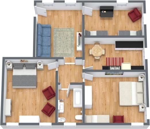 Planimétrie Appartement N.390
