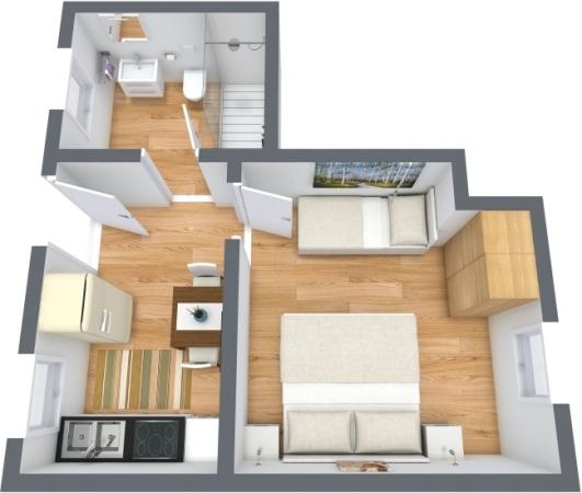 Planimétrie Appartement N.391