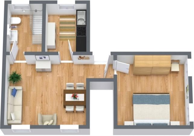 Planimétrie Appartement N.396