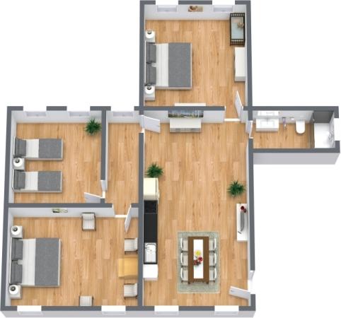 Planimétrie Appartement N.399