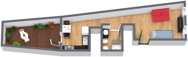 Planimétrie Appartement N.40