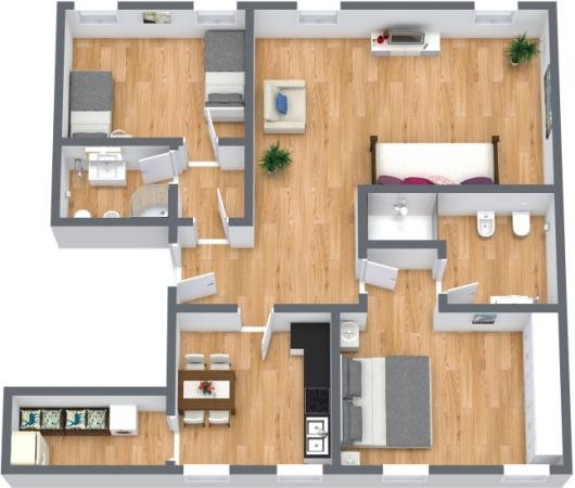 Planimétrie Appartement N.402