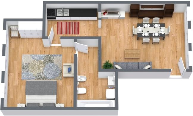 Planimétrie Appartement N.404
