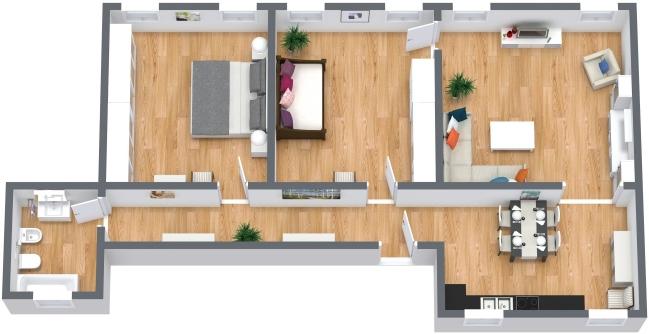 Planimétrie Appartement N.405
