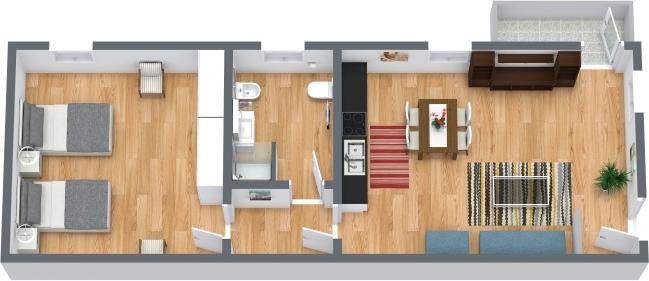 Planimétrie Appartement N.408