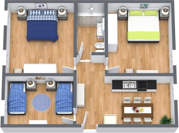 Planimétrie Appartement N.412