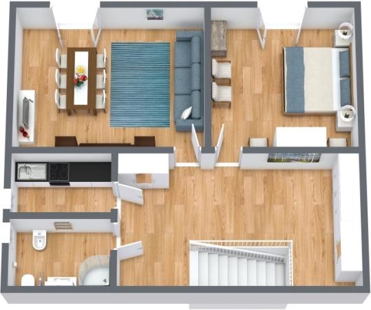 Planimétrie Appartement N.414