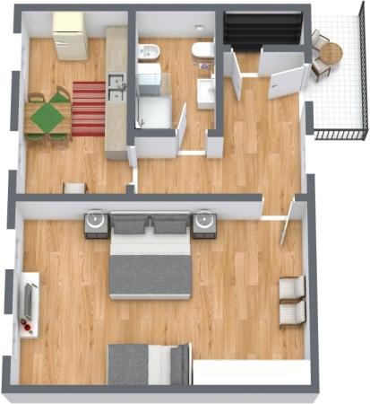 Planimétrie Appartement N.425