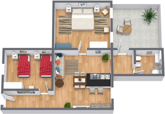 Planimétrie Appartement N.427