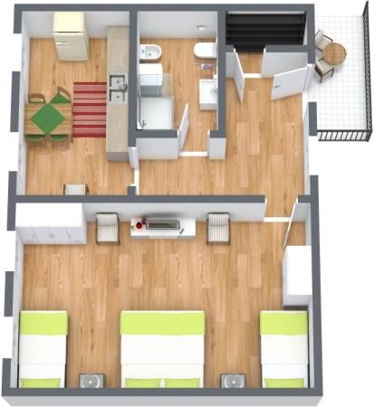 Planimétrie Appartement N.428