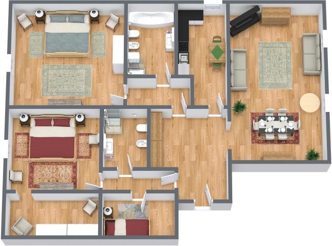 Planimétrie Appartement N.429