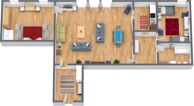 Planimétrie Appartement N.43