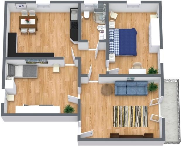 Planimétrie Appartement N.438